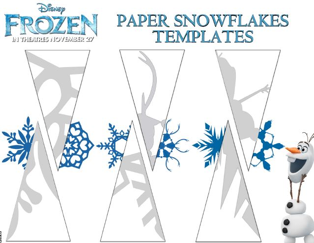 Free Frozen Snowflake Patterns and Coloring Sheets - snowflake template