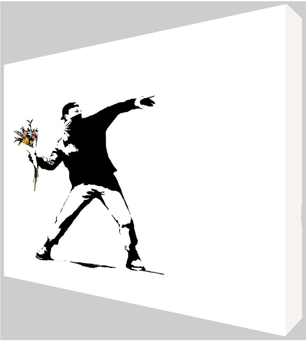 Banksy Canvas Art Banksy Flower Thrower Canvas Art Choose Your Size Ready To Hang Free P P