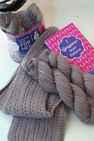 Jade Sapphire Cashmere Scarf Knit Kit For Her At Fabulousyarn Com - Cashmere Scarf Knitting Kit