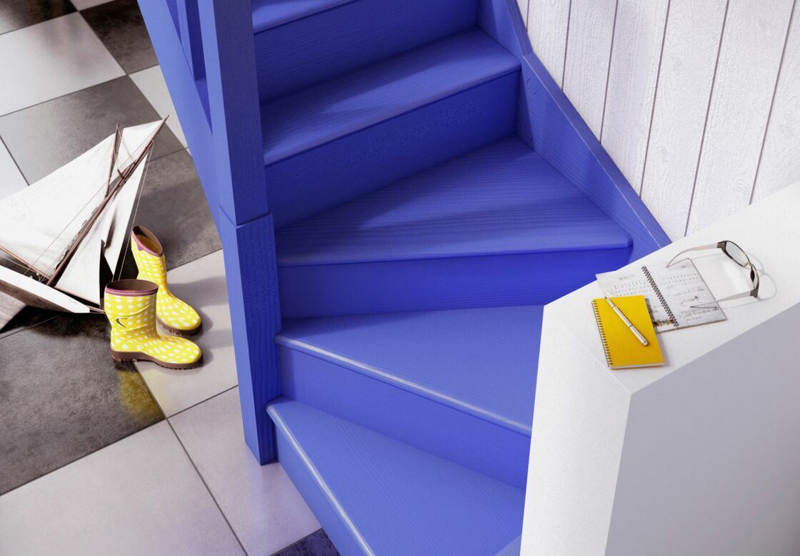 Peinture Entree Avec Escalier | Idée Décoration Entree Couloir Avec ...