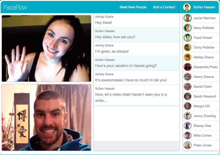 Gratis Chat Free Chat And Video Chat With Friends Online Faceflow