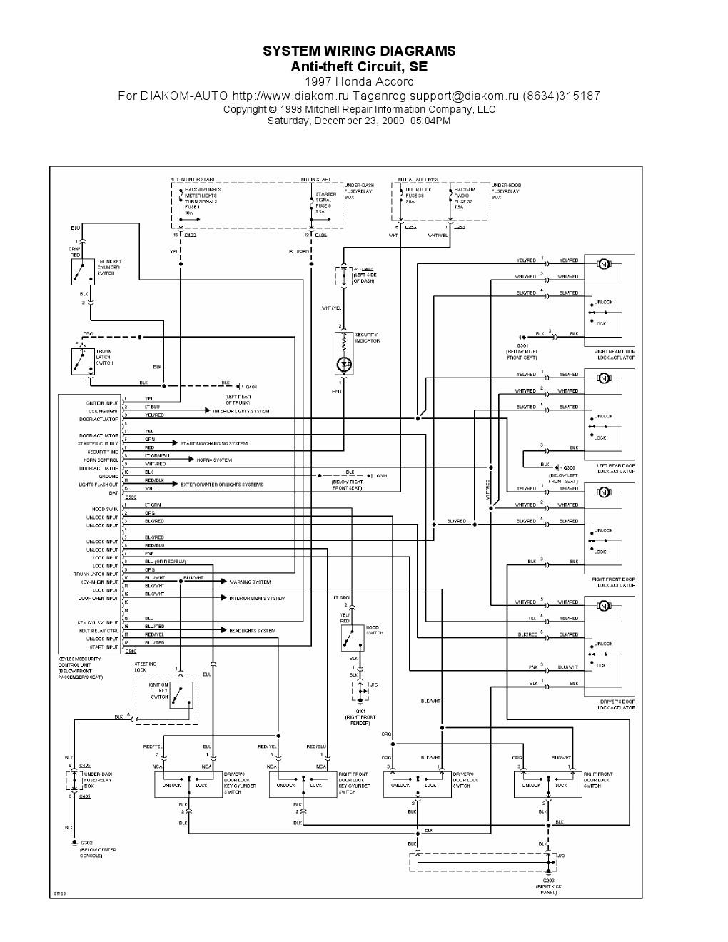 honda ignition wiring diagram