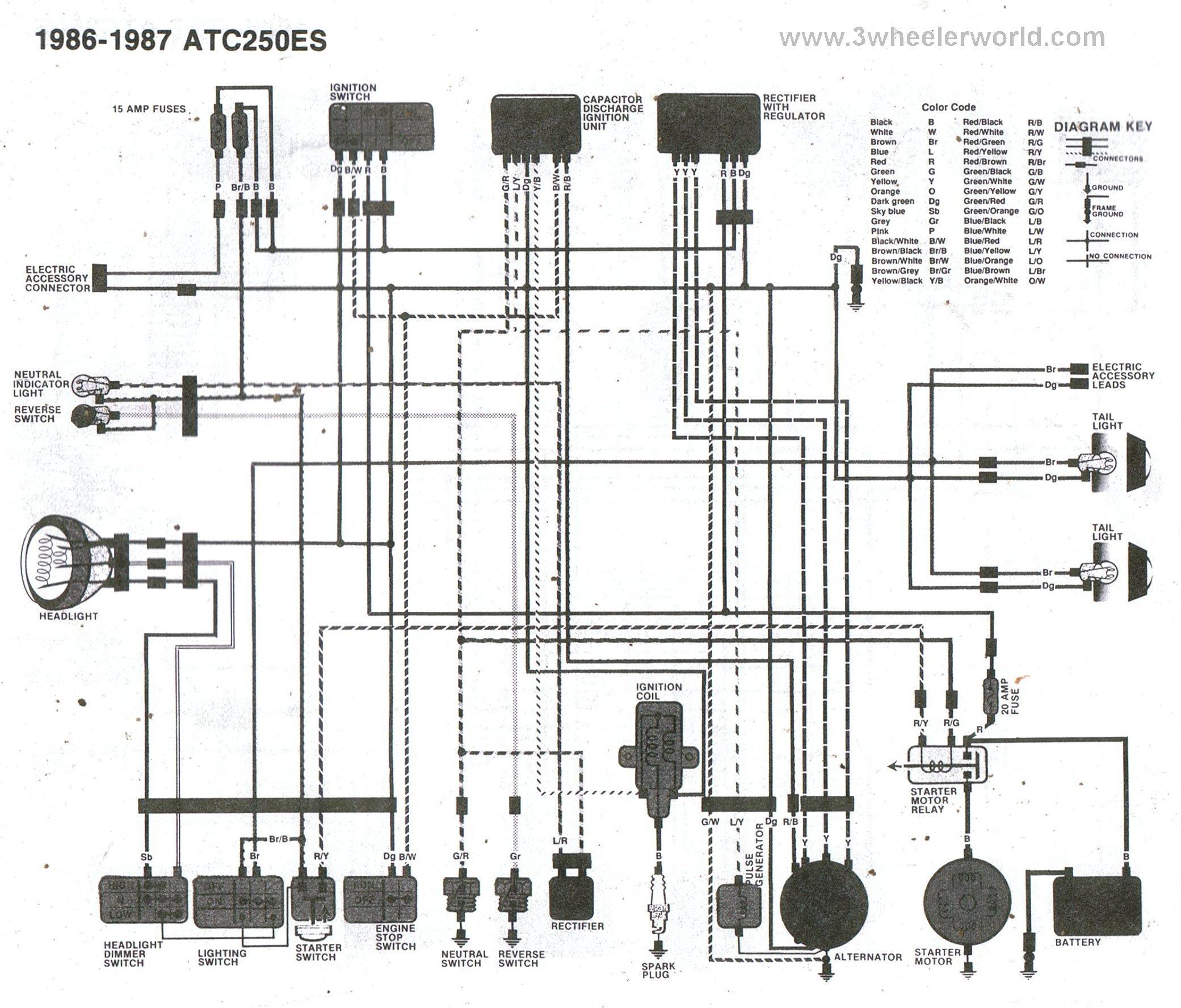 99 honda fourtrax 300 wiring diagram