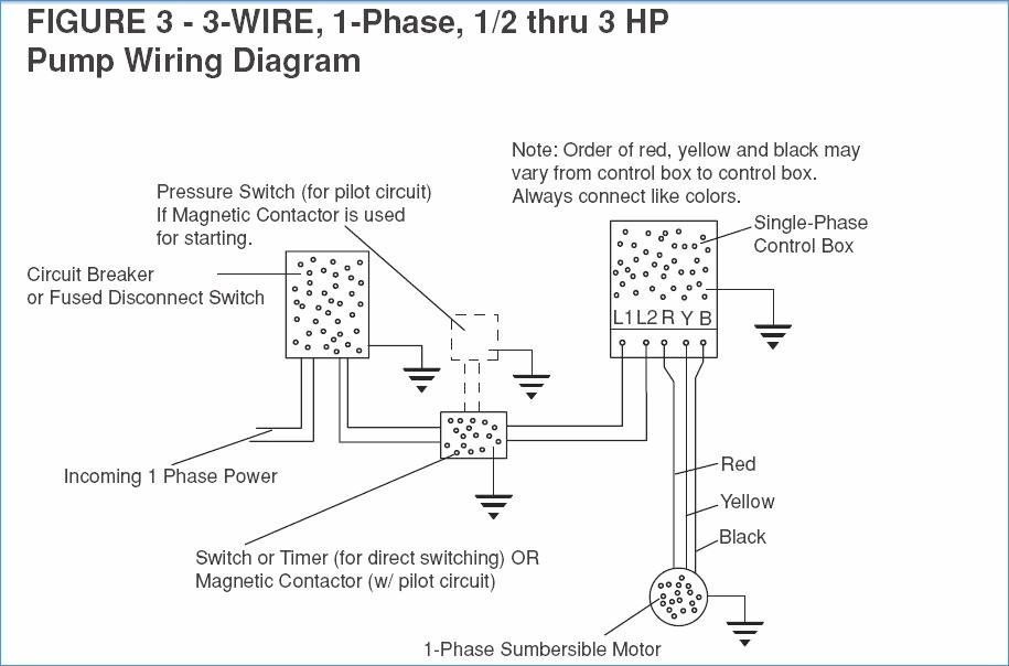 3 Wire Submersible Pump Control Box Wiring Diagram - Carbonvote