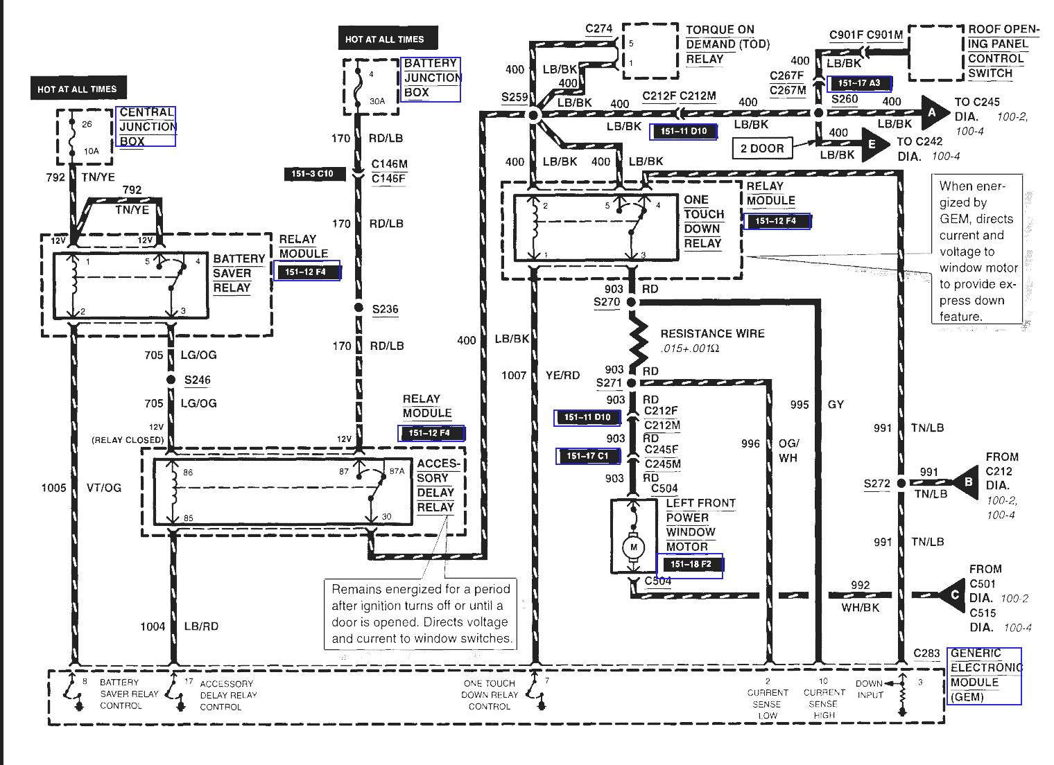 2004 ford e450 fuse diagram