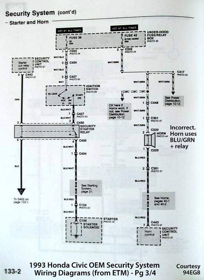 Honda Security Diagram Wiring Diagram
