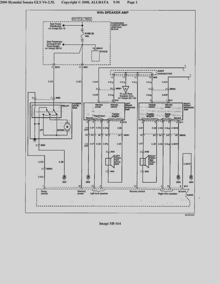 2003 Hyundai sonata Radio Wiring Diagram Sample Wiring Diagram Sample