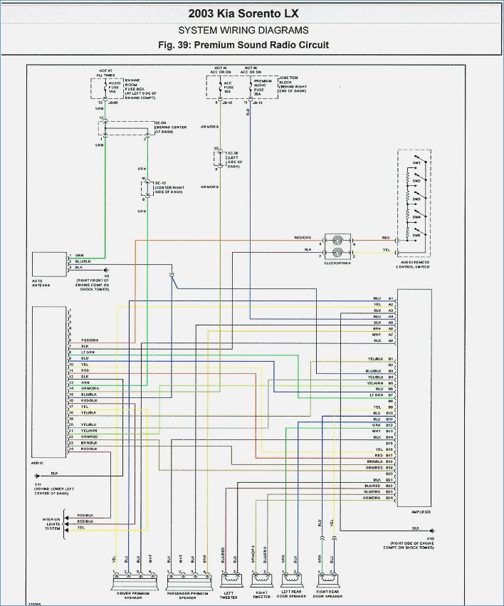 Kia Stereo Wiring Schematic Index listing of wiring diagrams