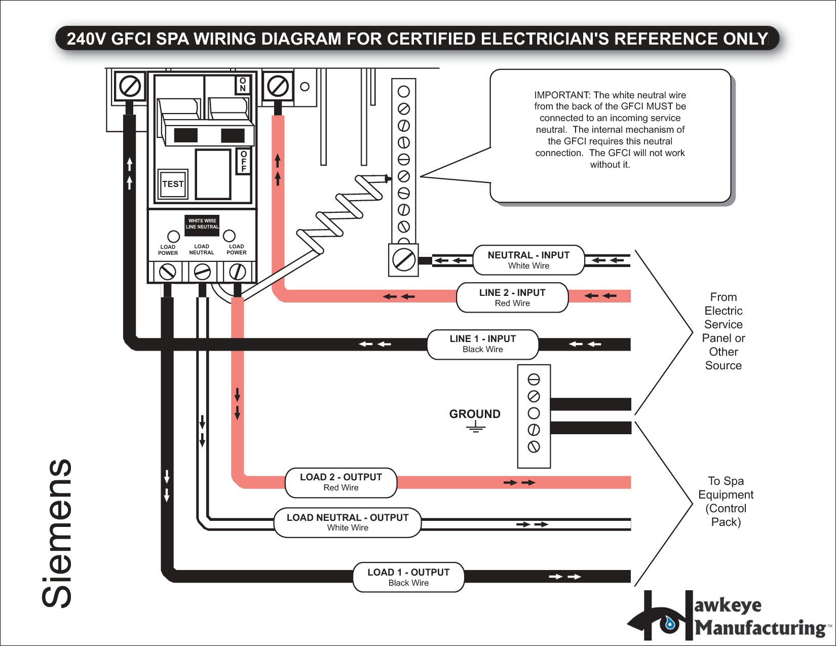 3 wire 220v gfci breaker wiring diagram