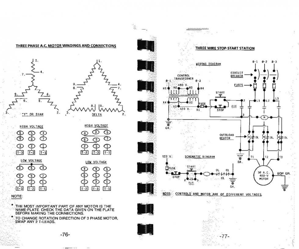 3 phase motor wiring diagrams century