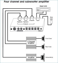 Channel Amplifier Subwoofer Wiring Diagram on 4 channel audio amplifier, led light wiring diagram, amp meter wiring diagram, dual car amp wiring diagram, 02 avalanche radio wiring diagram, 4 channel high imut conection, subwoofer wiring diagram, car stereo amp wiring diagram, 6 channel amp wiring diagram, 4 channel car amplifier hookup, car amplifier install diagram, car audio wiring diagram, guitar amp wiring diagram, 4 channel amplifier specification, 4 channel stereo amplifier, speaker wiring diagram, sub and amp wiring diagram, 2 channel amp wiring diagram, monitor wiring diagram, amplifier installation diagram,
