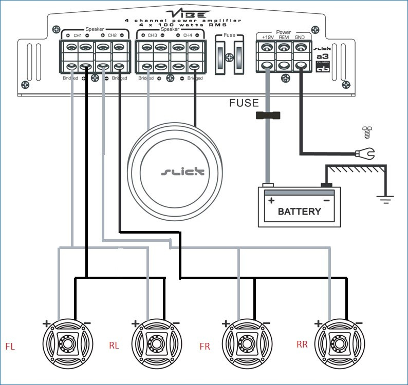 6 Speakers 4 Channel Amp Wiring Diagram Gallery Wiring Diagram Sample