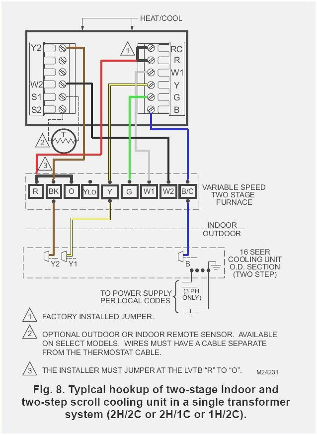 furnace ac thermostat wiring diagram