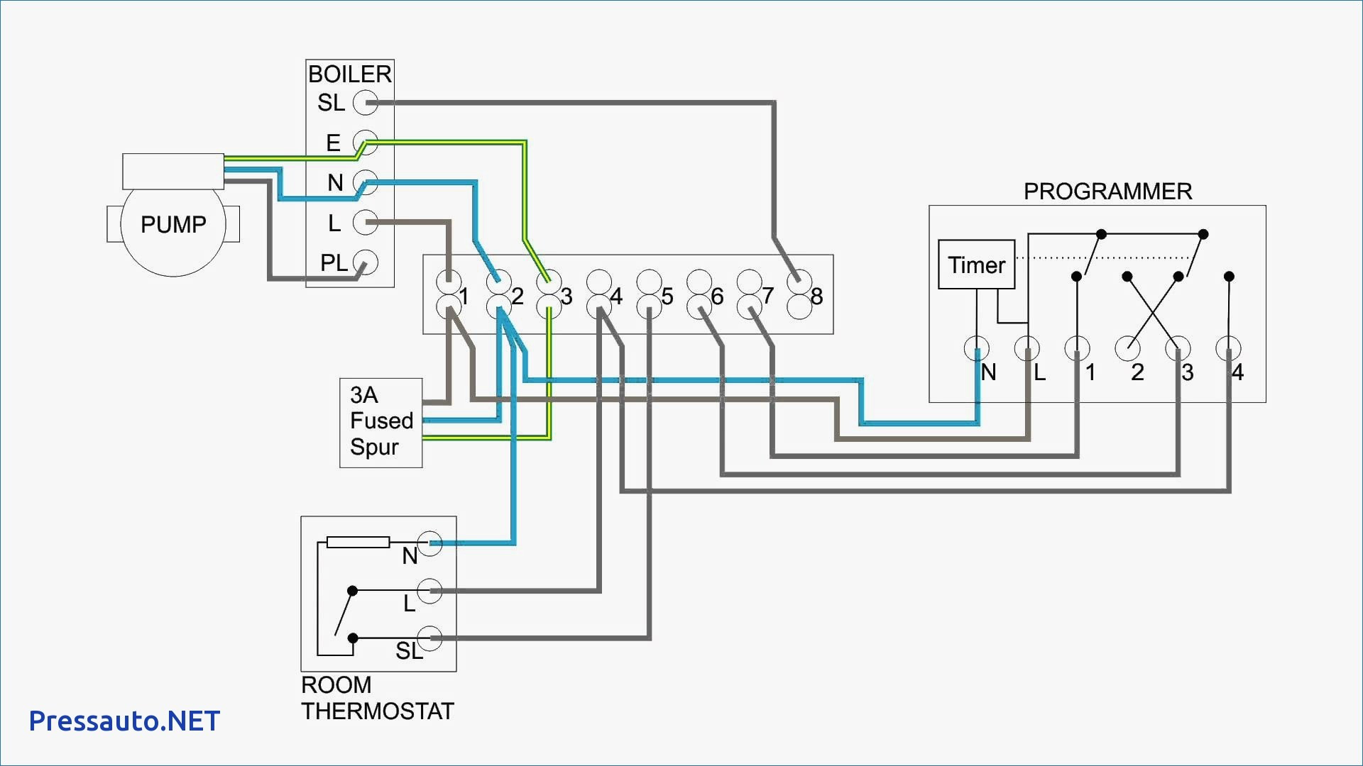wiring diagram central heating system
