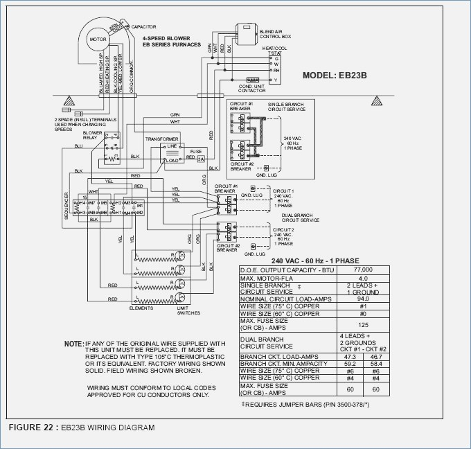 evcon mobile home furnace diagram