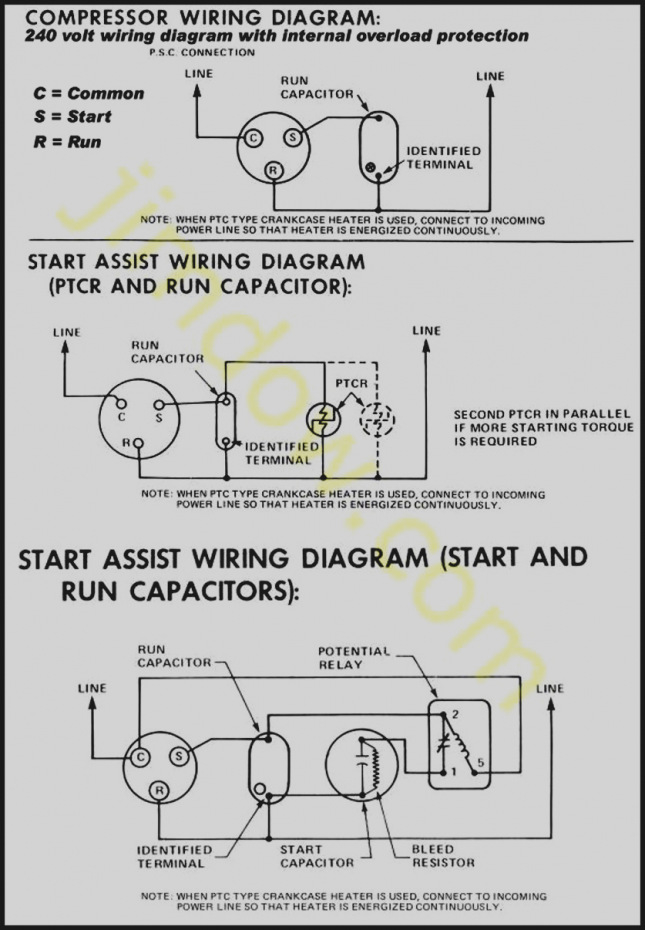 hvac potential relay wiring diagram