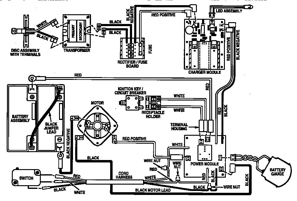 craftsman electric mower wiring diagram