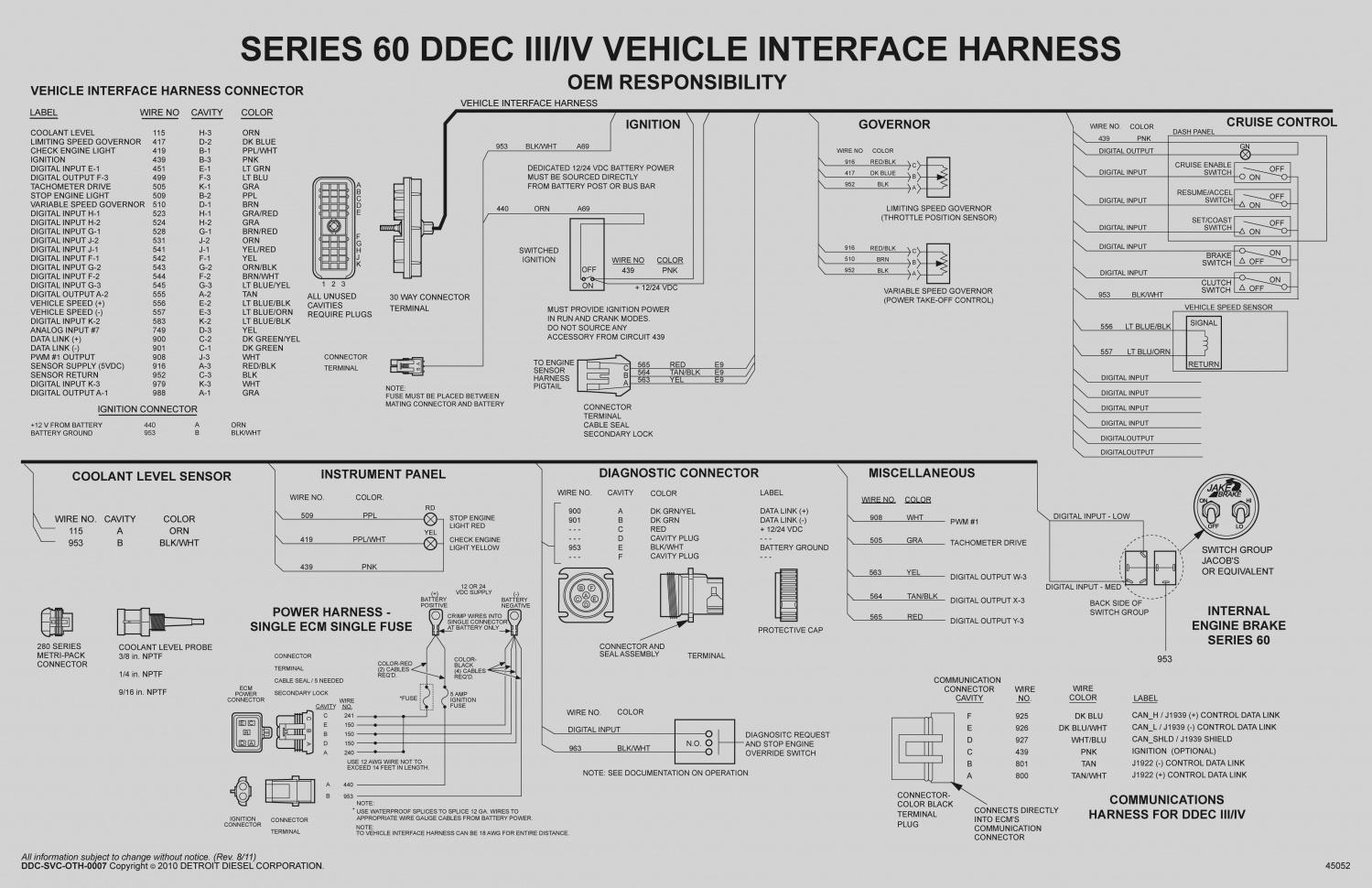 ddec series 40 engine wiring