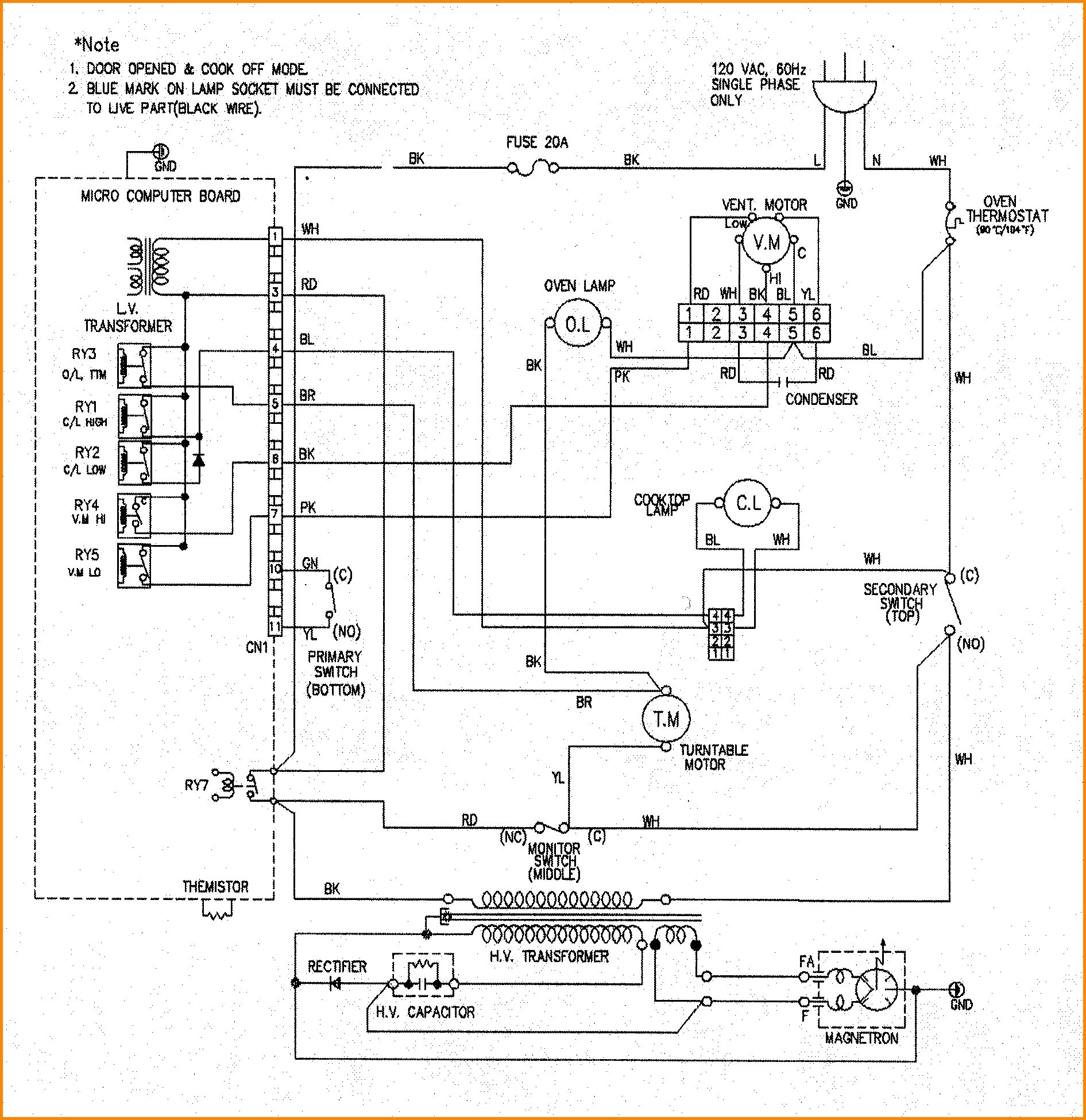 wiring diagram oven thermostat