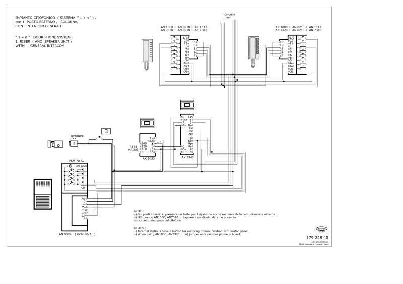 bticino intercom wiring diagram