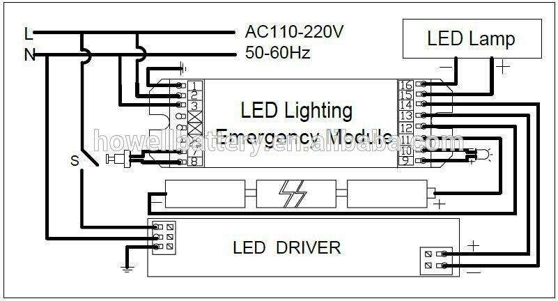exit lights wiring diagram