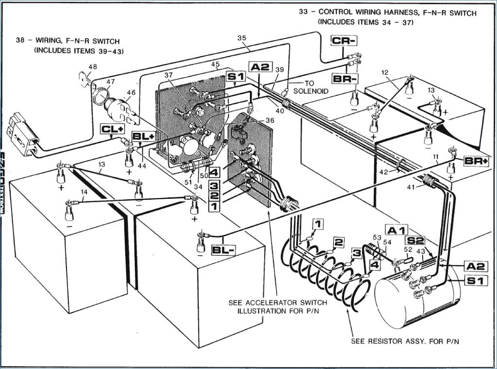 1998 Ezgo Gas Wiring Diagram Power