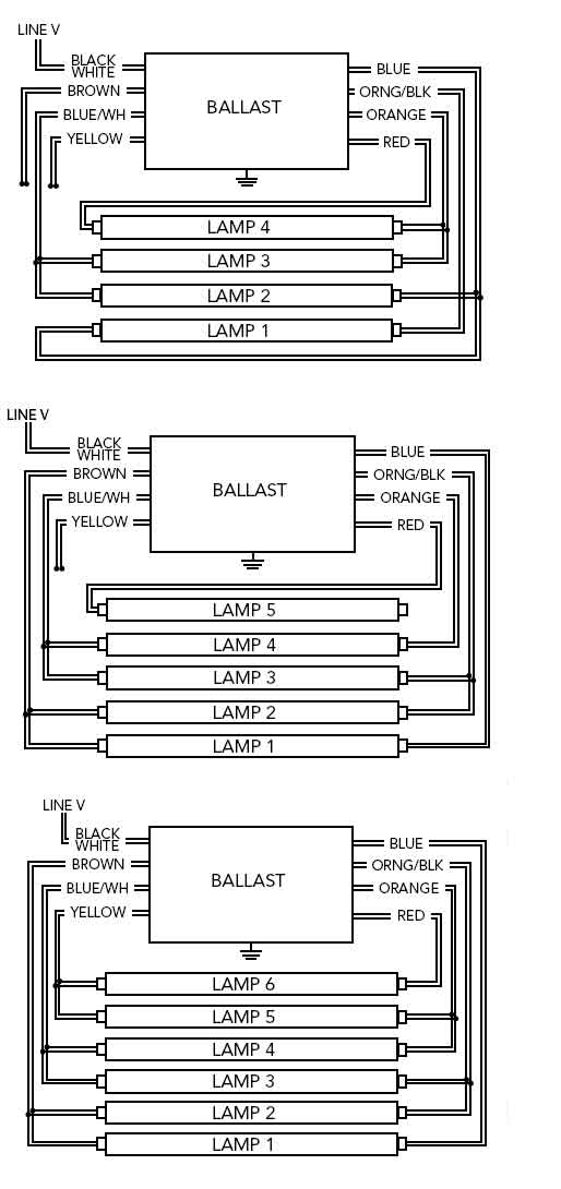 t8 fluorescent light ballast wiring diagram