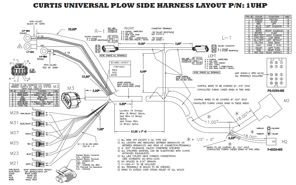 wiring schematic boss v snow plow