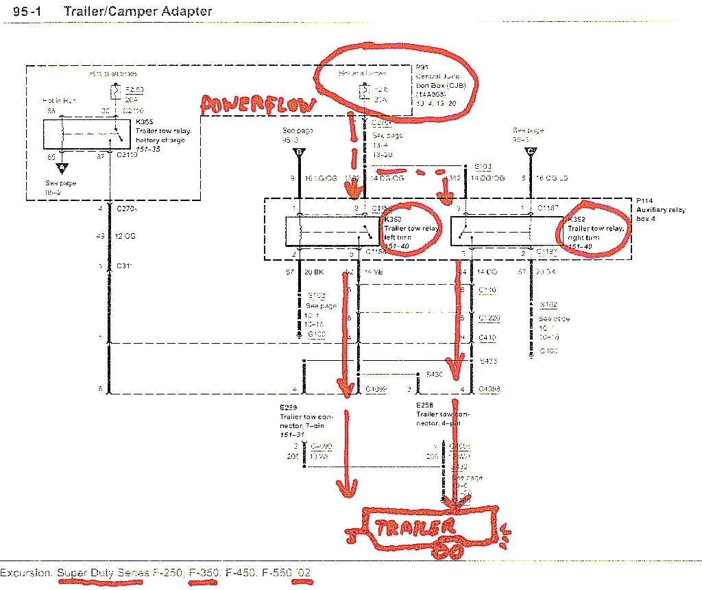 2009 ford f250 thru 550 super duty wiring diagram manual original