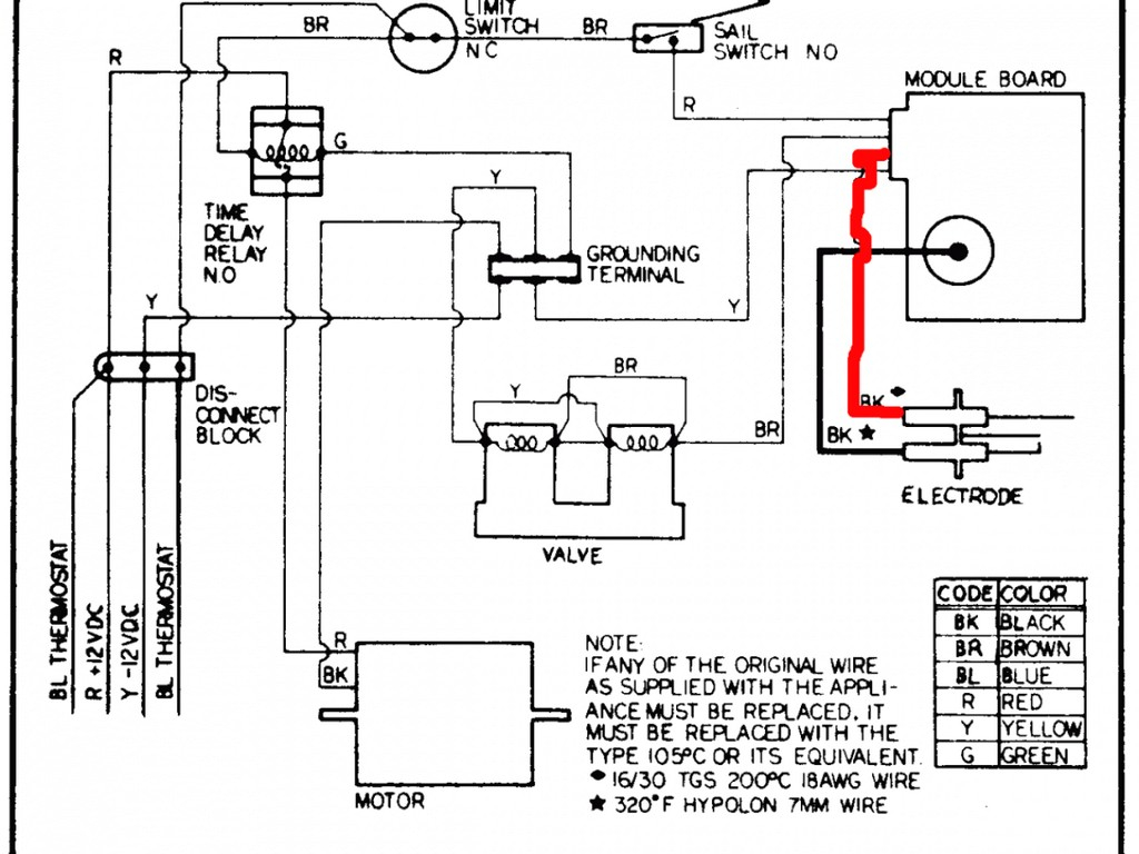 thermostat wiring chart