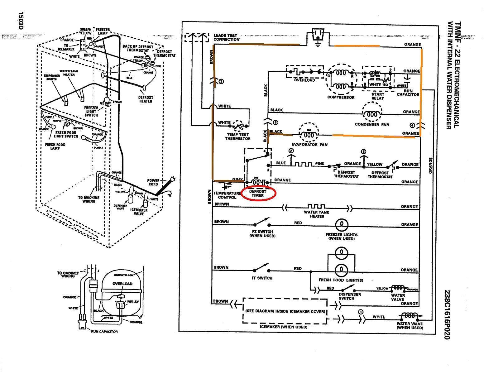 refrigerator wiring schematics
