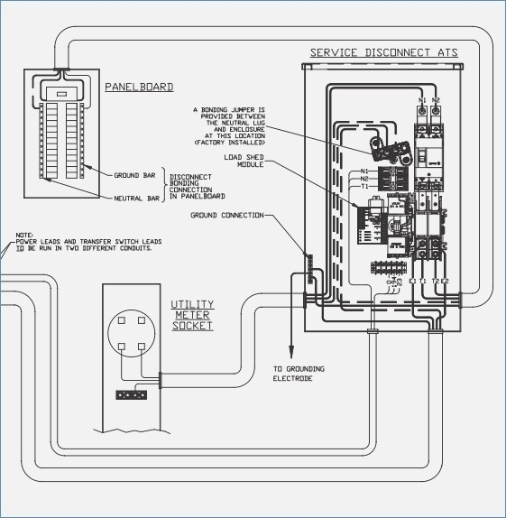 Whole House Generator Transfer Switch Wiring Diagram Collection