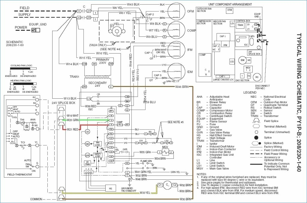goodman air conditioner wiring diagram