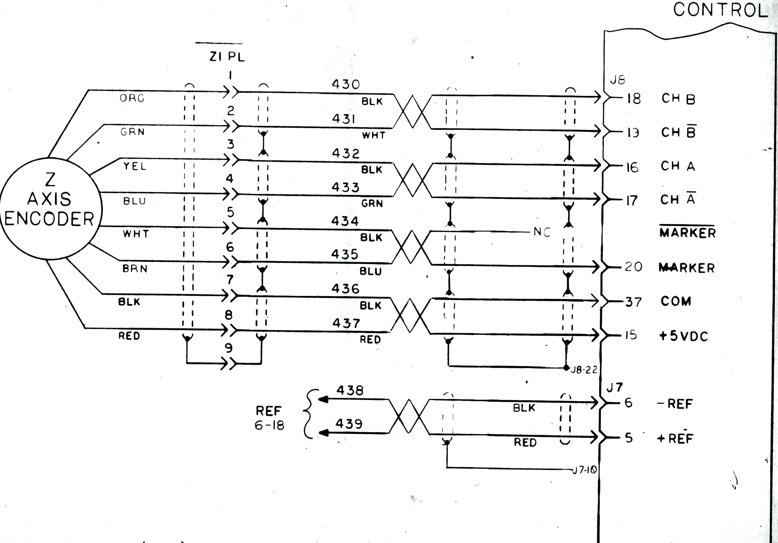 wiring diagram for an encoder