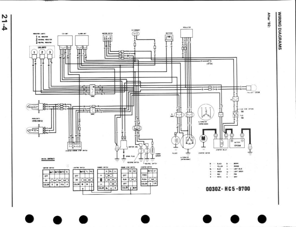 honda fourtrax wiring diagram battery
