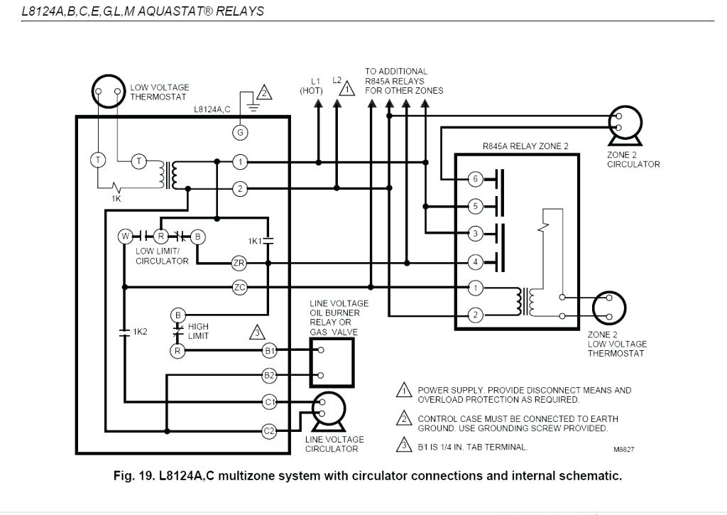 honeywell burner control wiring diagram