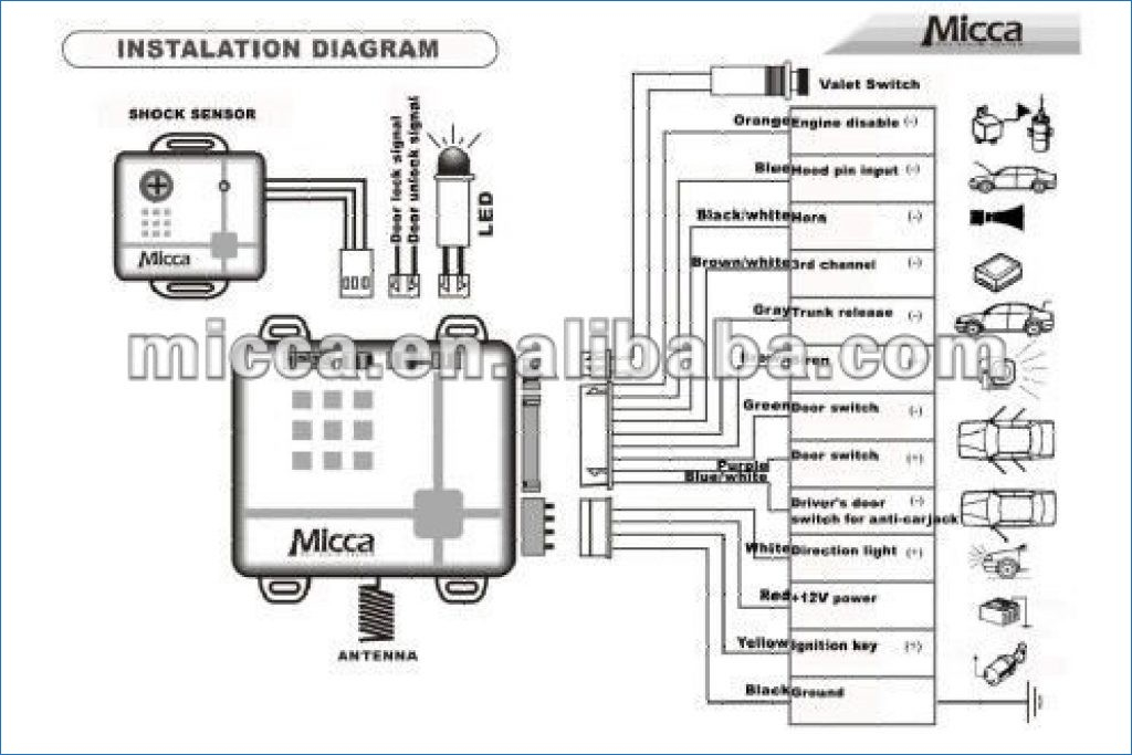 wiring diagram for car alarm install