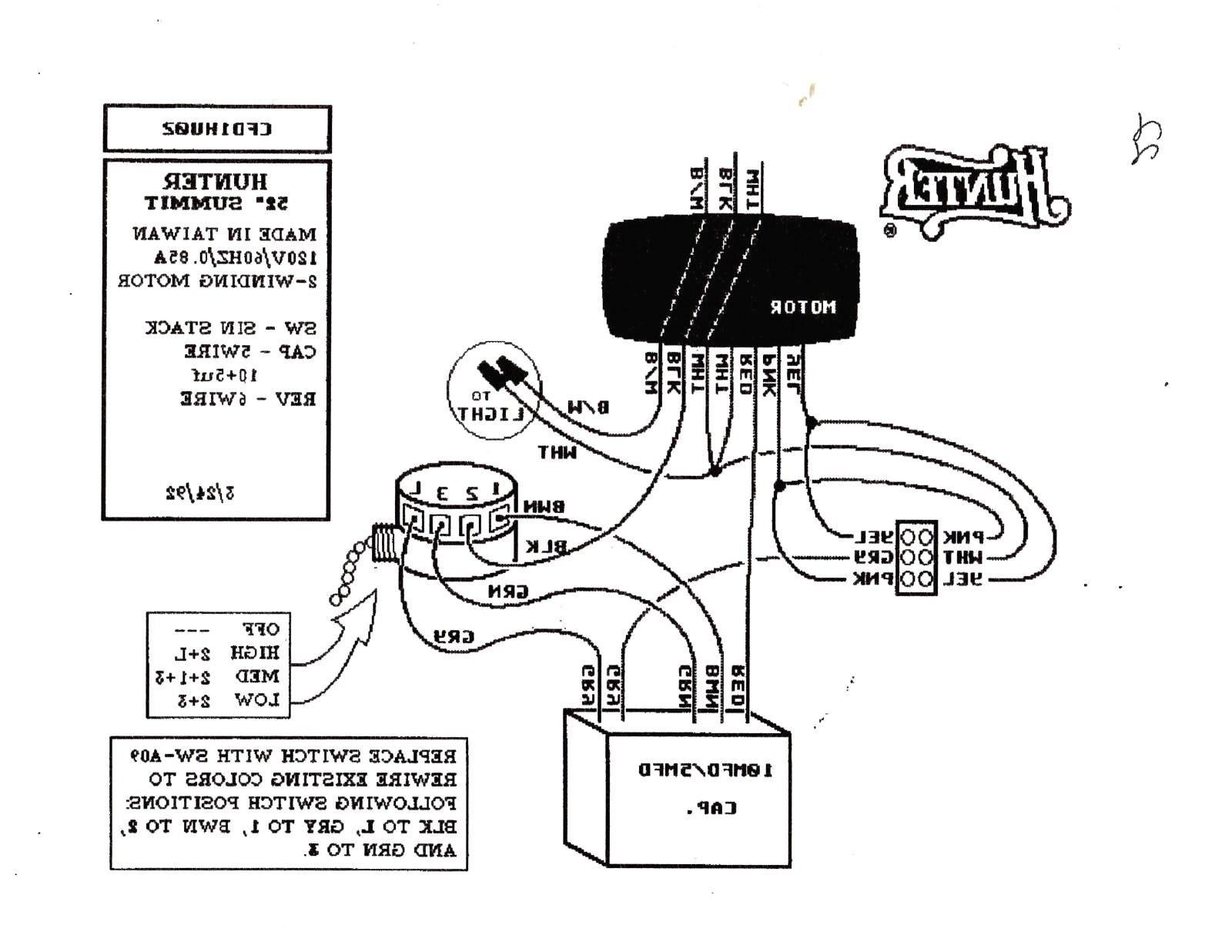 wiring diagram for light kit on ceiling fan