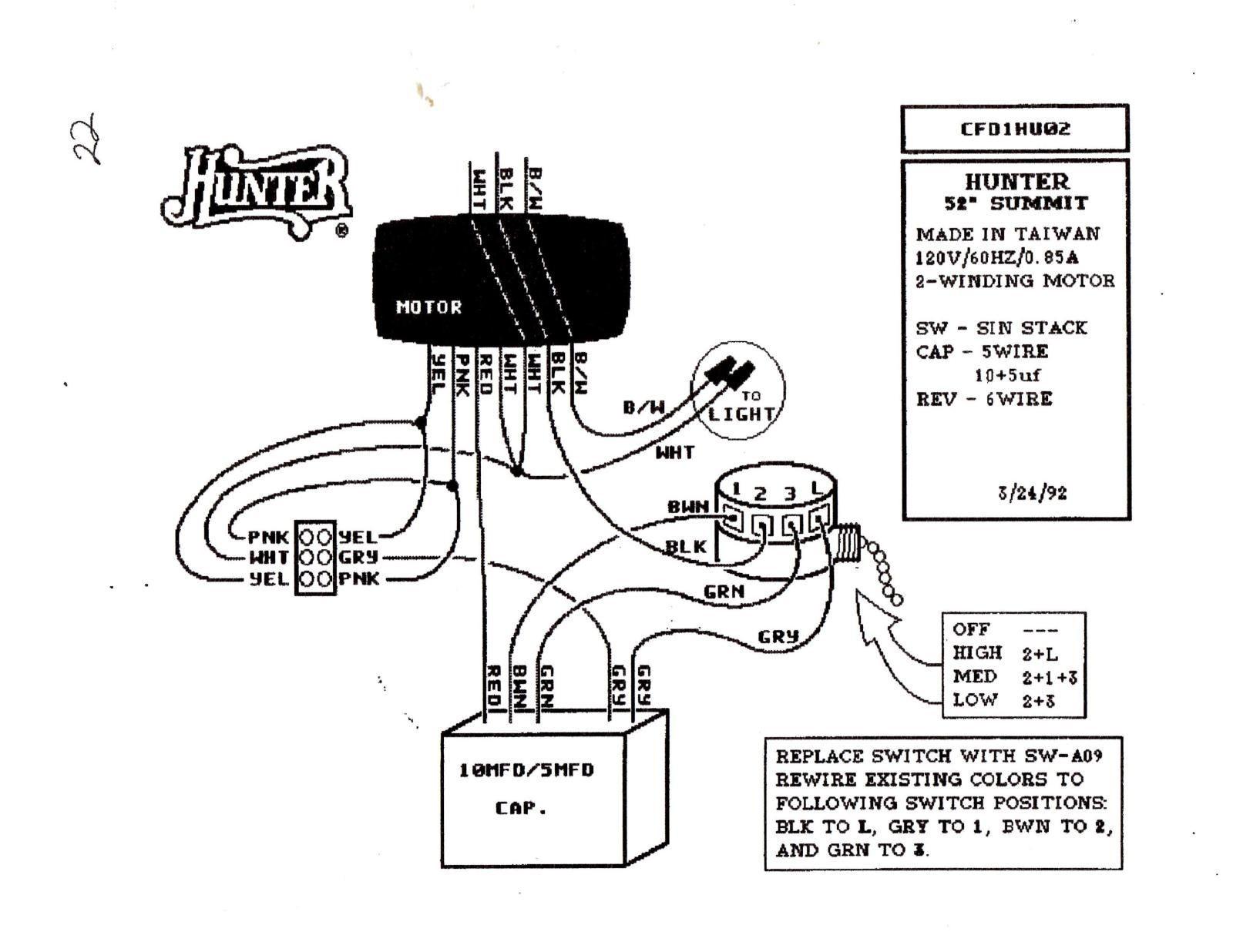 hunter wiring diagram part k243101000