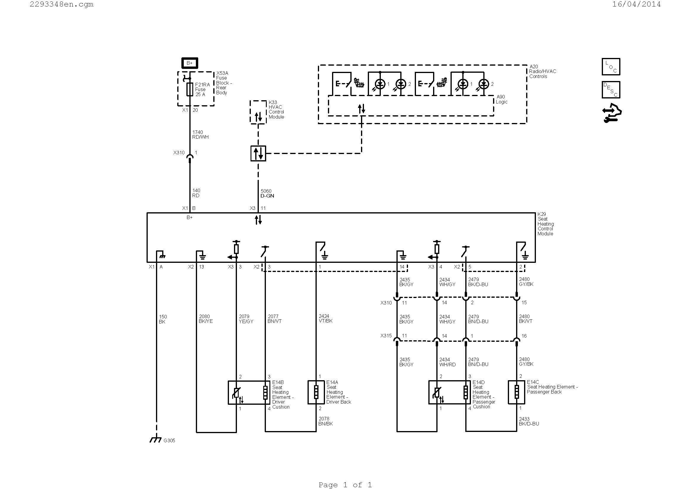 park sensor wiring diagram