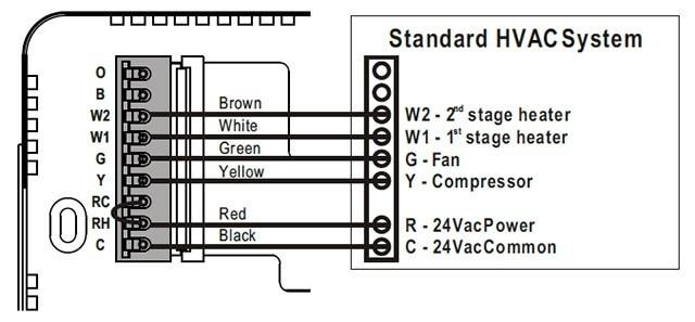 baird hvac thermostat wiring