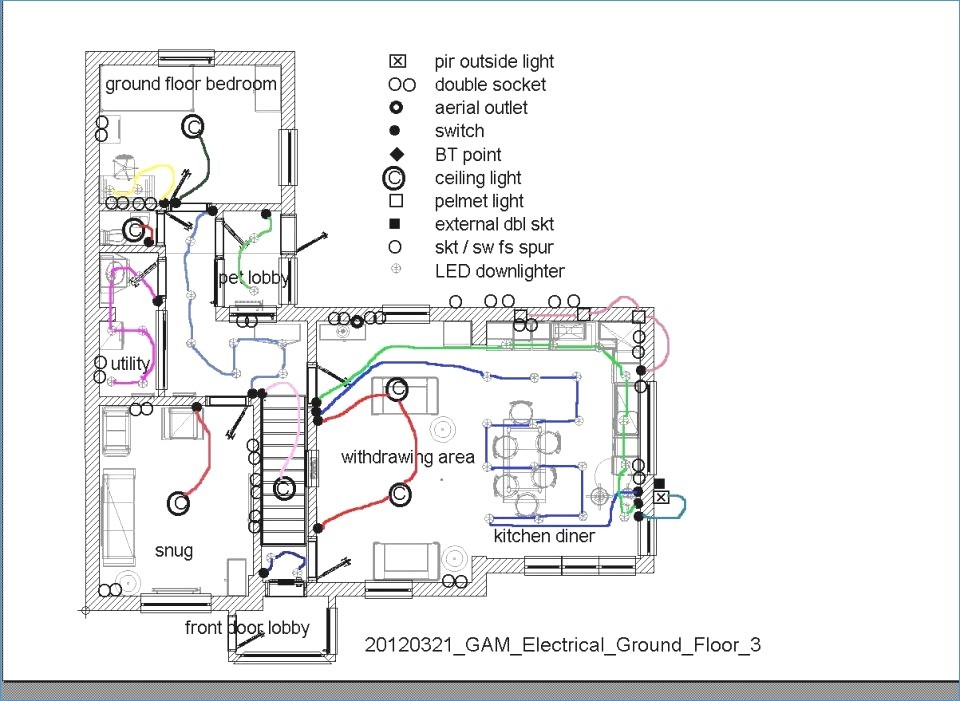 kitchen wiring circuit diagram