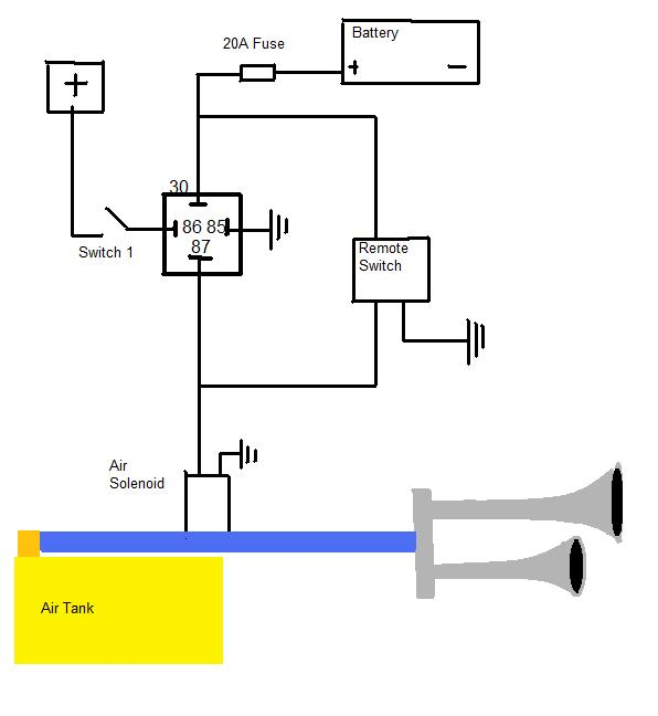 Wiring Diagram For Air Horns Wiring Diagram