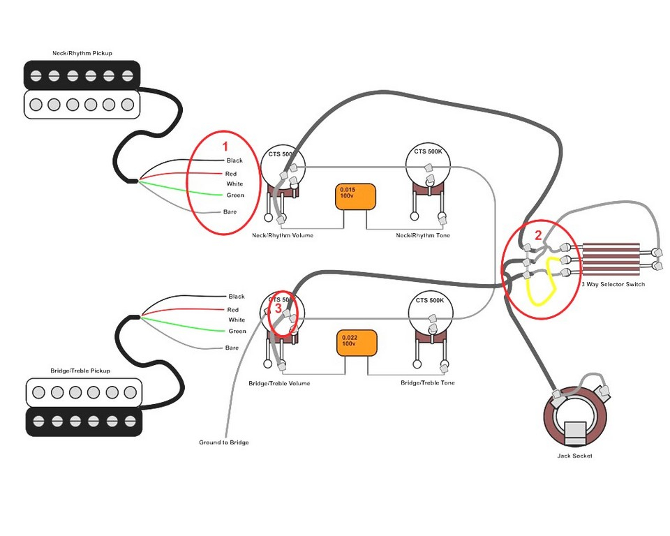 guitar pickup wiring explained