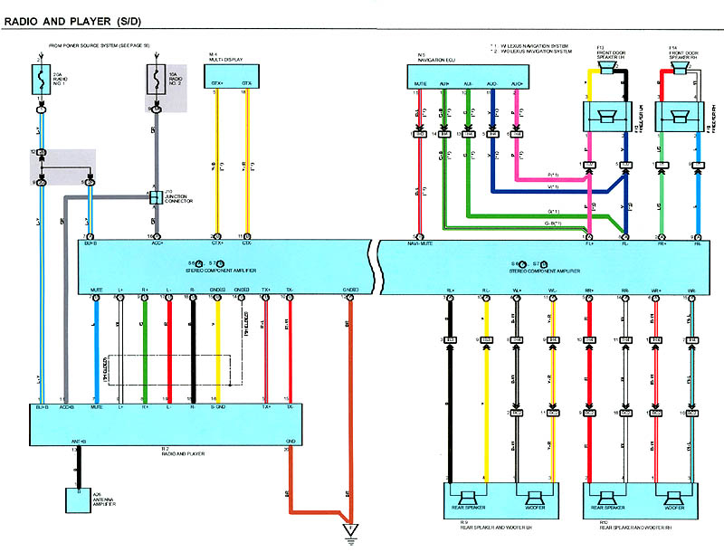 Lexus Stereo Wiring Diagram Collection Wiring Diagram Sample