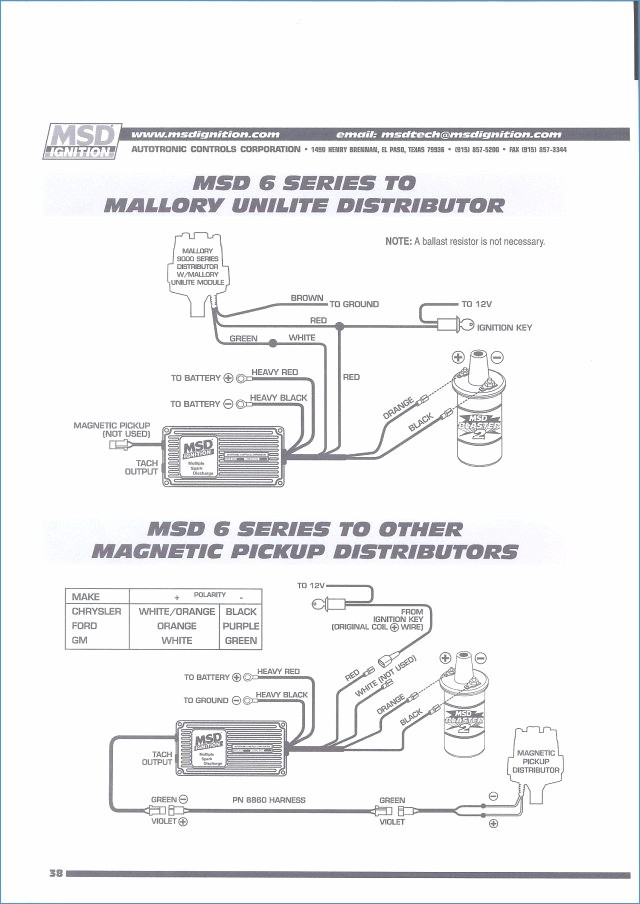 Msd Ignition 6al 6420 Wiring Diagram Collection Wiring Diagram Sample