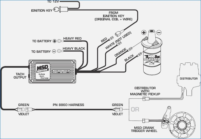 msd 460 ford distributor to 6 msd wiring