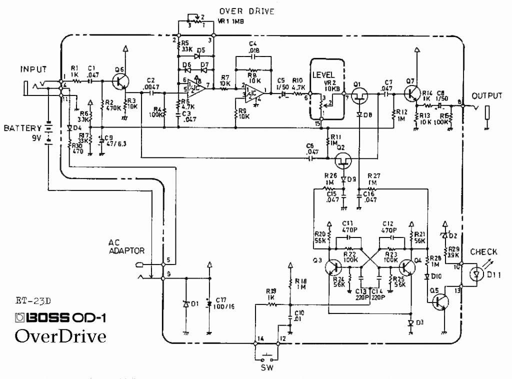 guitar pedal wiring diagram