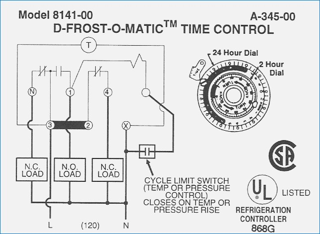 paragon defrost timer wiring diagrams
