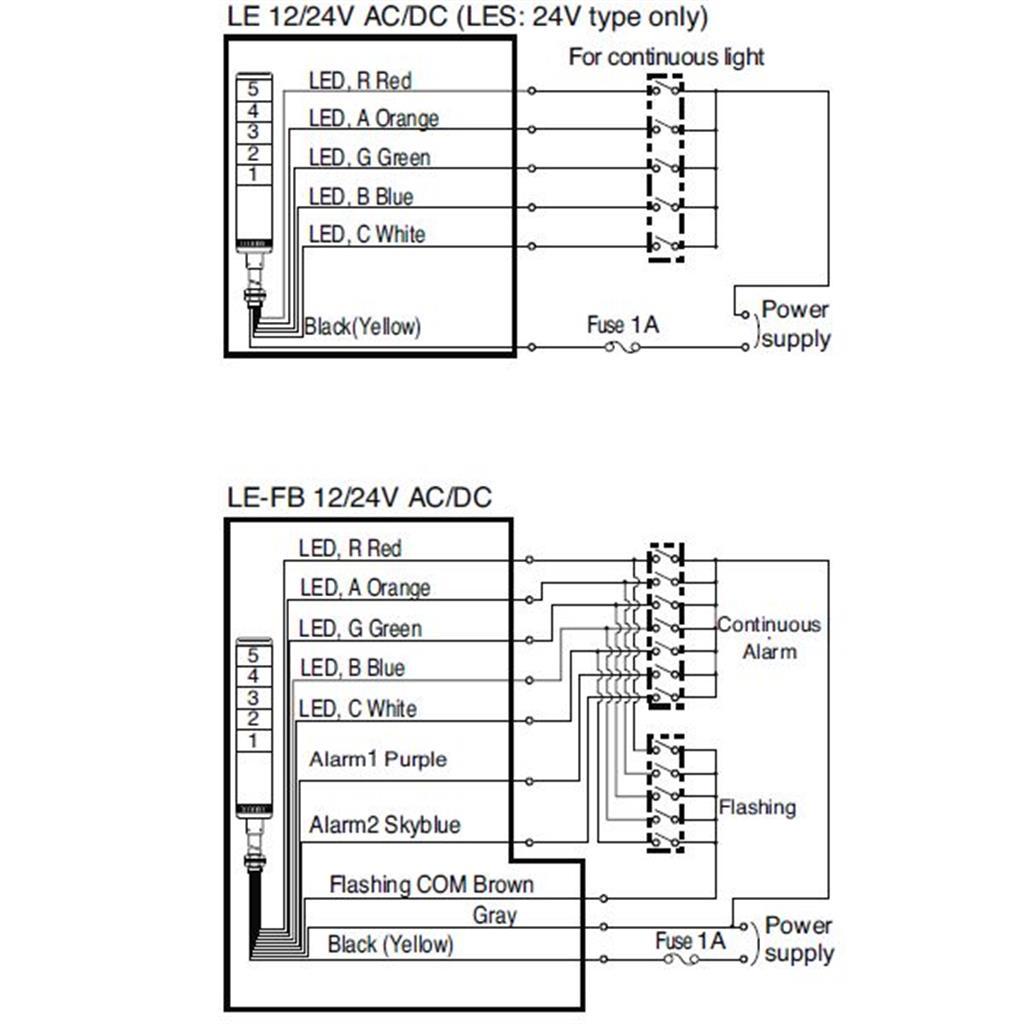 patlite tower light wiring diagram